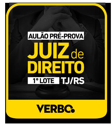Aulão/Pré-Prova - JUIZ DE DIREITO - RS - 1º LOTE