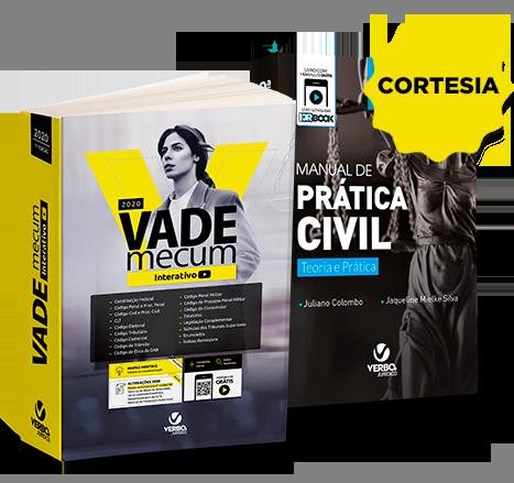 VADE MECUM INTERATIVO 2020 acompanha CORTESIA Manual de Prática Civil