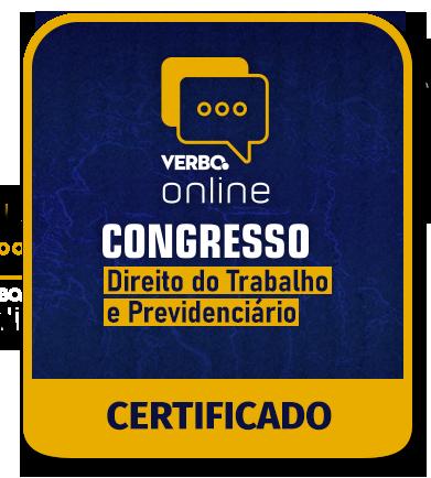 Certificado de Participação - Congresso de Direito do Trabalho e Previdenciário