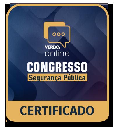 Certificado de Participação - Congresso de Segurança Pública