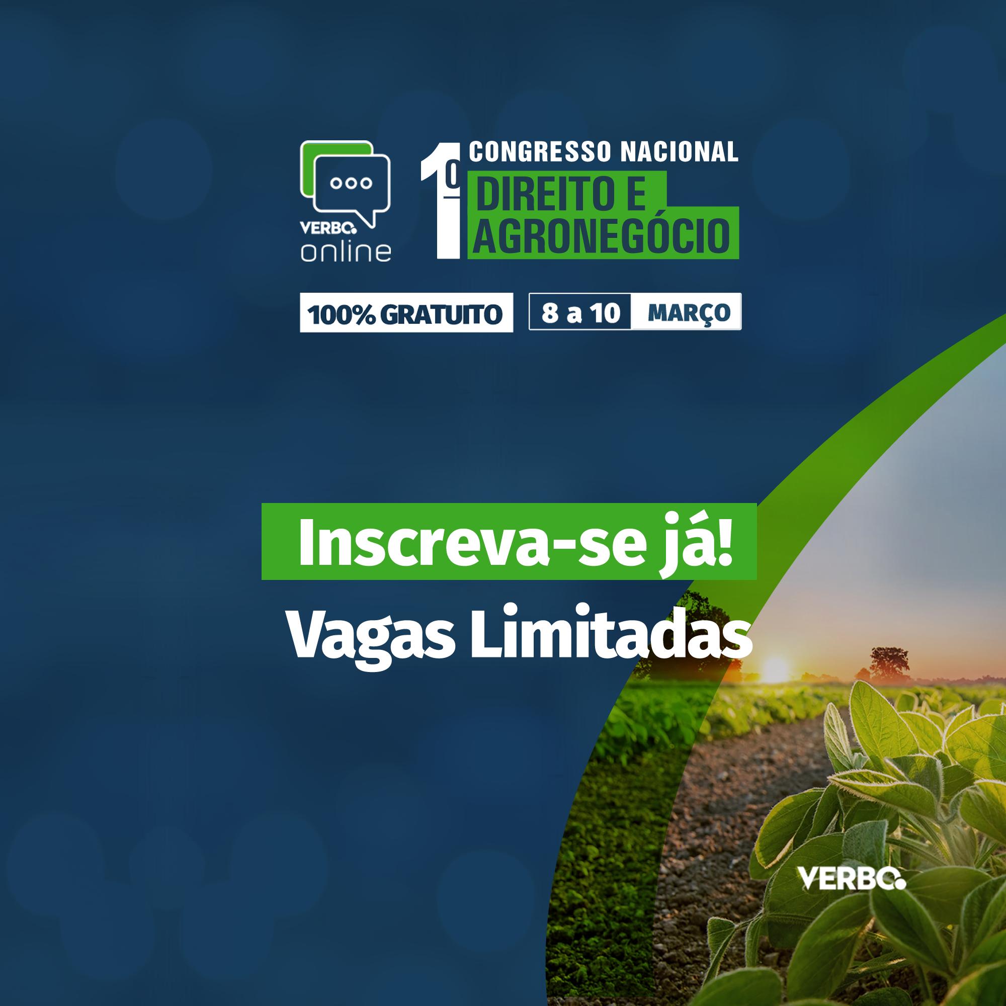Certificado de Participação - Congresso Nacional de Direito e Agronegócio