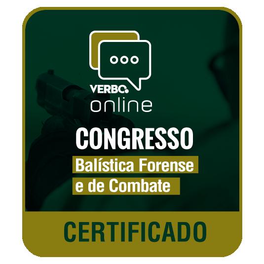 Certificado de Participação - Congresso de Direito e Balística Forense