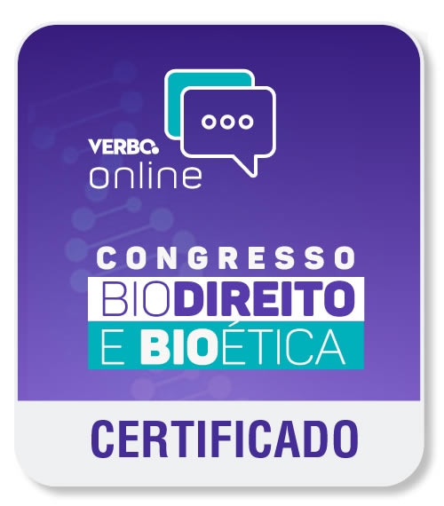 Certificado digital de participação   -   I Congresso de Biodireito e Bioética